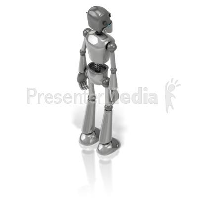 Retro Robot Back PowerPoint Clip Art