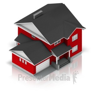 ID# 17347 - Residential House - Presentation Clipart