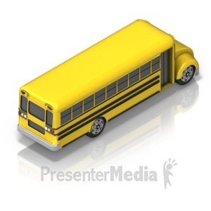 ID# 17362 - School Bus Back - Presentation Clipart