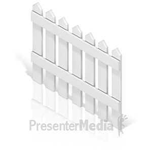 ID# 17364 - Picket Fence Back - Presentation Clipart