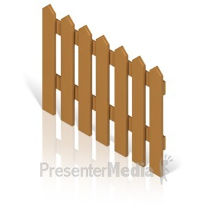 ID# 17367 - Picket Fence Color - Presentation Clipart