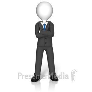 ID# 17377 - Power Stance Figure - Presentation Clipart