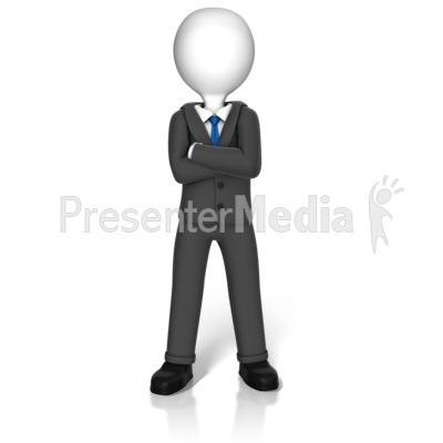 Power Stance Figure PowerPoint Clip Art