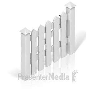 ID# 17389 - Picket Fence Gate - Presentation Clipart