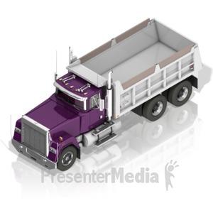 ID# 17403 - Dump Truck - Presentation Clipart