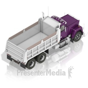 ID# 17404 - Dump Truck Back - Presentation Clipart