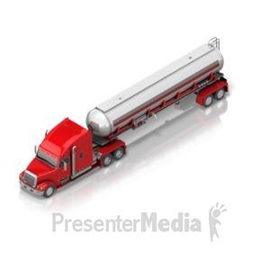 ID# 17409 - Fuel Semi Truck - Presentation Clipart
