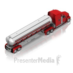 ID# 17410 - Fuel Truck Back Isometric - Presentation Clipart