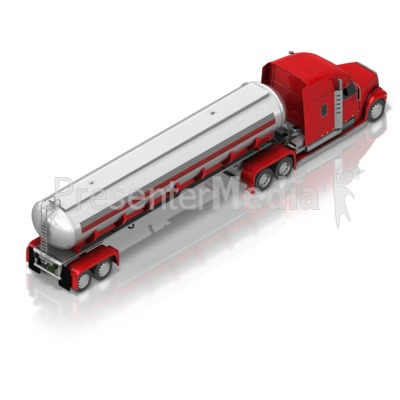 Fuel Truck Back Isometric PowerPoint Clip Art