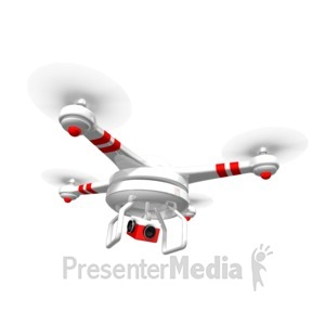 ID# 17417 - Drone Hovering Above - Presentation Clipart