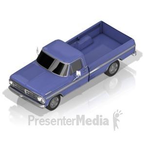 ID# 17421 - Pickup Truck - Presentation Clipart