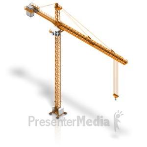 ID# 17425 - Crane Isometric - Presentation Clipart