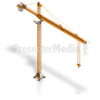 Crane Isometric PowerPoint Clip Art