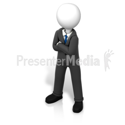 Figure Power Stance Isometric PowerPoint Clip Art