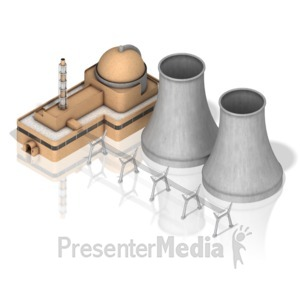 ID# 17445 - Nuclear Power Facility - Presentation Clipart