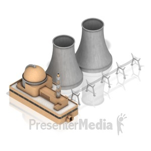 ID# 17446 - Nuclear Power Facility - Presentation Clipart