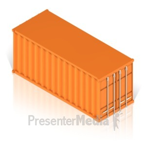 ID# 17449 - Cargo Container - Presentation Clipart
