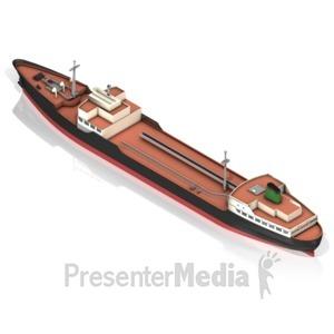 ID# 17456 - Tanker Ship Iso Alt - Presentation Clipart