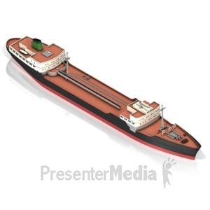 ID# 17457 - Tanker Ship - Presentation Clipart