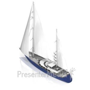 ID# 17469 - Sail Boat - Presentation Clipart