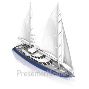 ID# 17470 - Sail Boat - Presentation Clipart