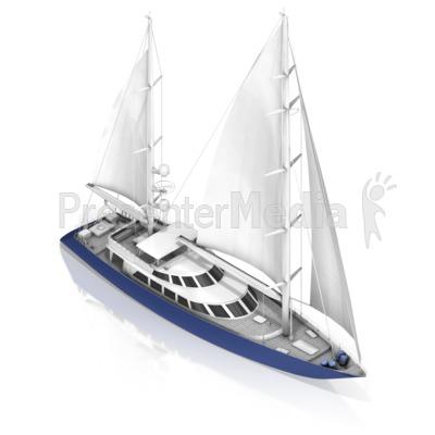 Sail Boat PowerPoint Clip Art
