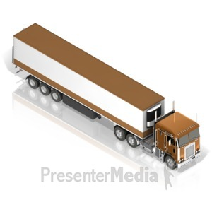 ID# 17480 - Semi Truck - Presentation Clipart