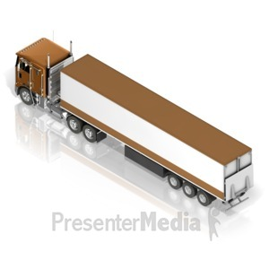 ID# 17481 - Semi Truck - Presentation Clipart