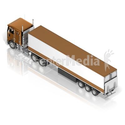 Semi Truck PowerPoint Clip Art