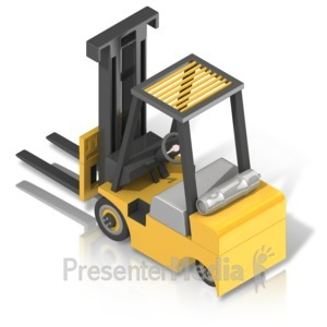 ID# 17501 - Forklift Back Isometric - Presentation Clipart