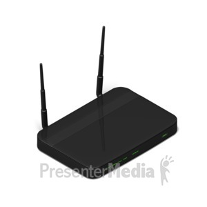ID# 17509 - Wi Fi Router Isometric - Presentation Clipart