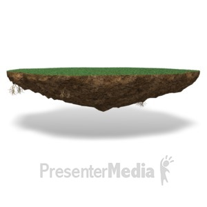 ID# 17511 - Grass Chunk Of Land - Presentation Clipart
