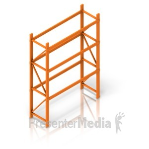 ID# 17516 - Empty Warehouse Rack isometric - Presentation Clipart