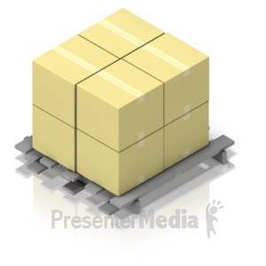 ID# 17520 - Pallet of Boxes Isometric - Presentation Clipart