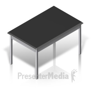 ID# 17523 - Basic Desk Main - Presentation Clipart