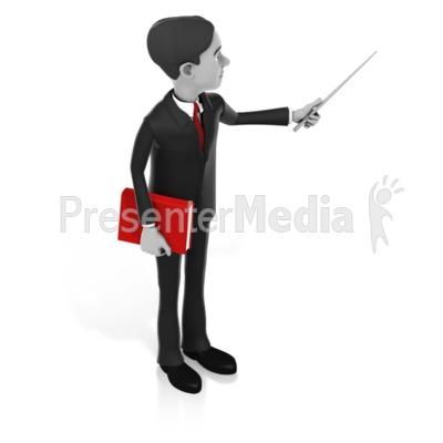 Man Pointer Book PowerPoint Clip Art
