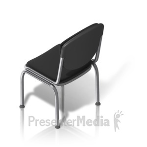 ID# 17527 - Metal Chair Back Isometric - Presentation Clipart