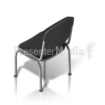 Metal Chair Back Isometric PowerPoint Clip Art