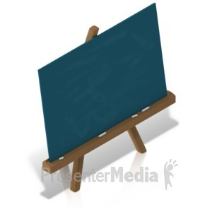 ID# 17530 - School Chalkboard Easel - Presentation Clipart