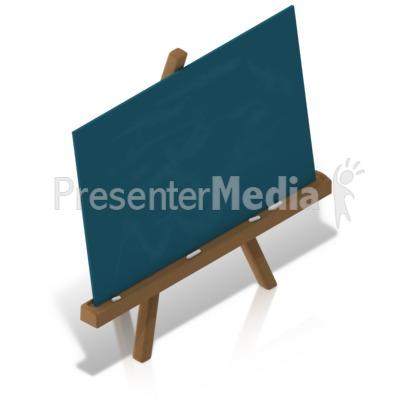 School Chalkboard Easel PowerPoint Clip Art