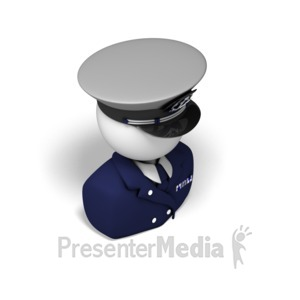 ID# 17534 - Captain Isometric - Presentation Clipart