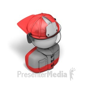 ID# 17539 - Fireperson Isometric - Presentation Clipart