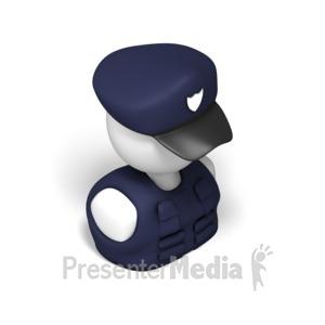 ID# 17541 - Police Isometric - Presentation Clipart