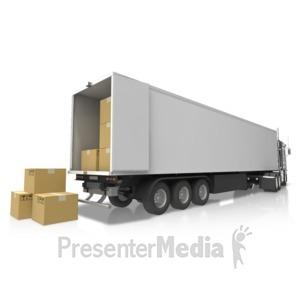 ID# 17563 - Semi Delivery Cargo - Presentation Clipart