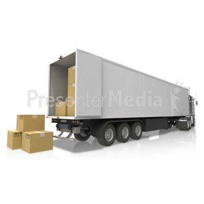 Semi Delivery Cargo PowerPoint Clip Art