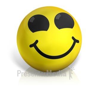 ID# 17565 - Happy Emotion Ball - Presentation Clipart