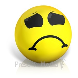 ID# 17566 - Sad Emotion Ball - Presentation Clipart