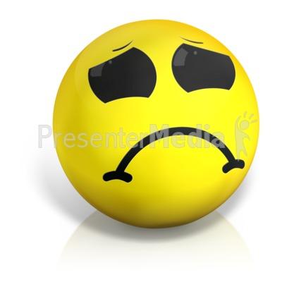 Sad Emotion Ball PowerPoint Clip Art