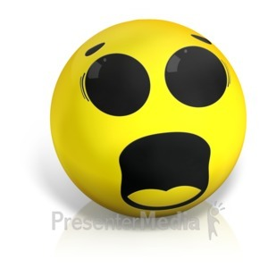 ID# 17573 - Scared Emotion Ball - Presentation Clipart