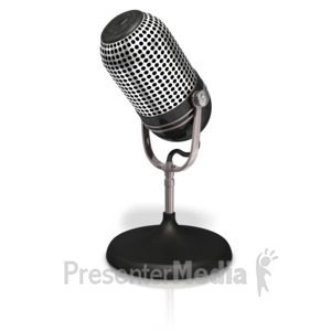 ID# 17580 - Table Microphone - Presentation Clipart